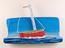 Sailboat made of drifted wood author: Nena Persic Nosalj