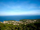 Panoramic view Veli Losinj and Velebit