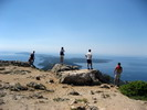 Panoramic view of cres and losinj archipelago